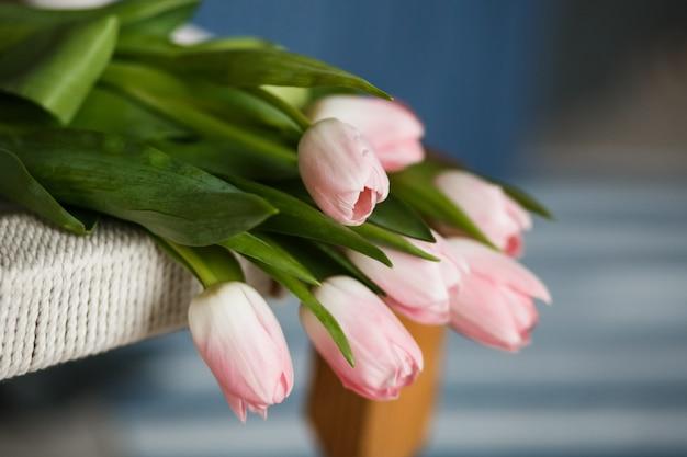 Buquê de tulipas rosa lindas