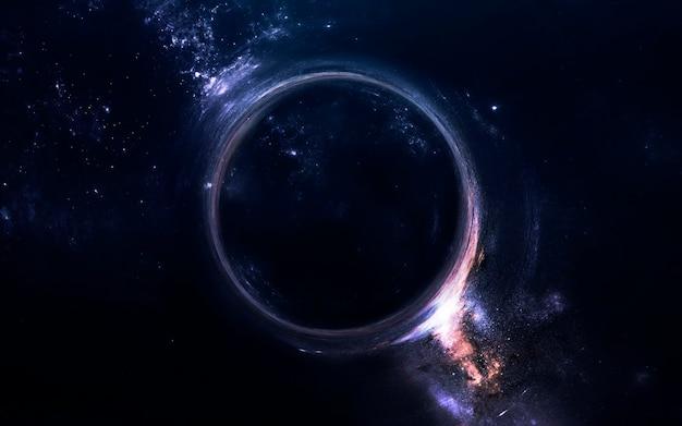 Buraco negro. papel de parede de ficção científica. elementos desta imagem fornecidos pela nasa