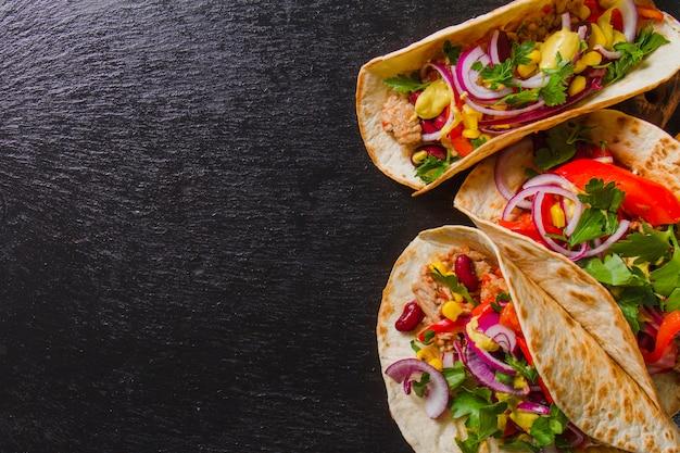 Burritos mexicanos perfeitos