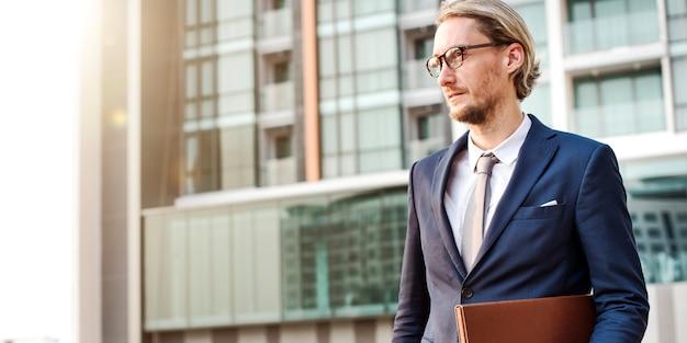 Businessman office worker working concept