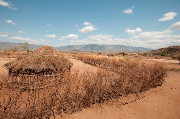Cabana na aldeia queniana