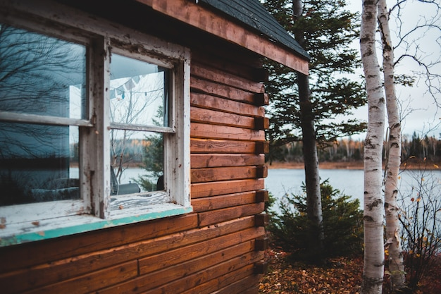 Cabana perto do lago