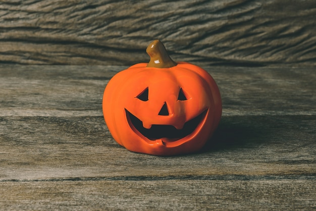 Cabeça de abóbora de halloween jack lanterna