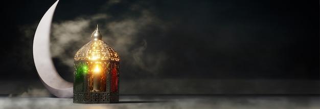 Cabeçalho de celebração festival islâmico ou banner