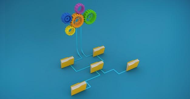 Cabelo castanho reunião digitais inovar fonte de escritório