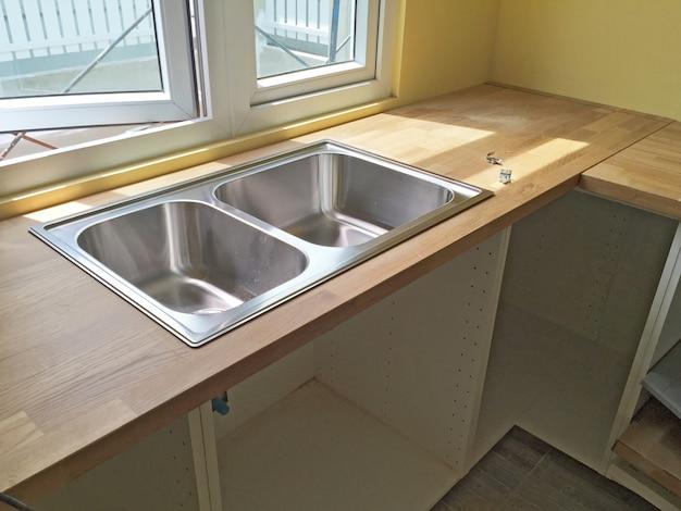 Cabine de piso de configuração diy de cozinha moderna