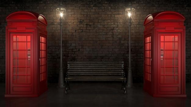 Cabine telefônica britânica em londres