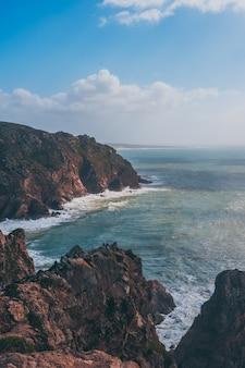 Cabo da roca em sintra com vista verde