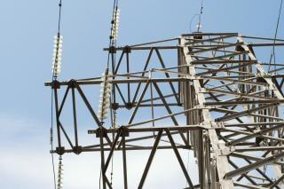 Cabo de energia elétrica linhas