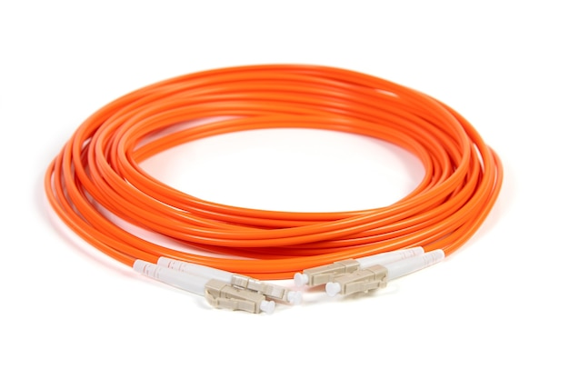 Cabo de fibra óptica com conector sc