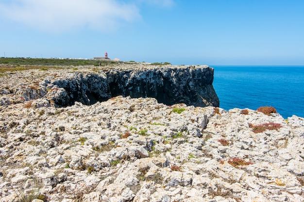 Cabo de são vicente no algarve, perto de sagres em portugal