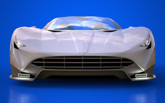 Cabriolet esportivo conceitual para dirigir renderização