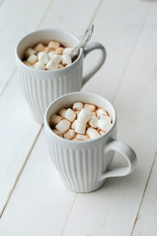 Cacau quente com marshmallow