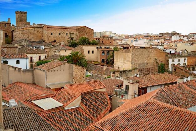 Cáceres monumental city extremadura spain
