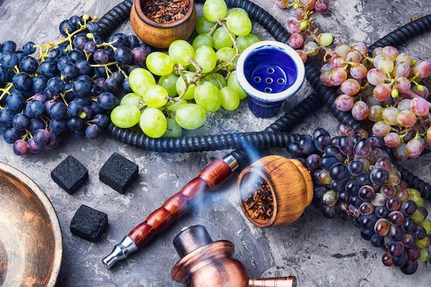 Cachimbo de água com sabor a uvas