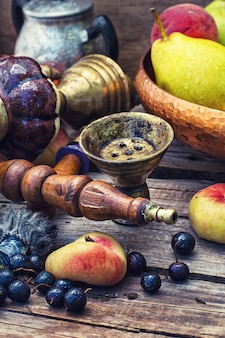 Cachimbo de água oriental com frutas