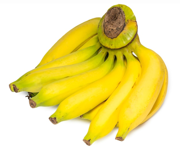 Cacho de bananas, isolado no fundo branco.