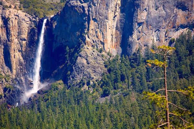 Cachoeira da queda de yosemite bridalveil no parque nacional