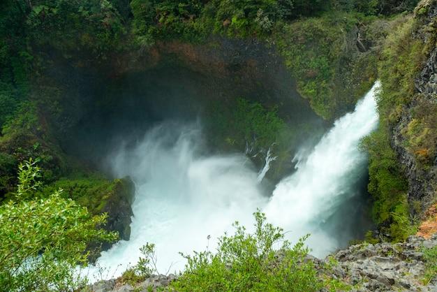 Cachoeira huilo huilo pangulipulli valdivia província los lagos chile patagônia