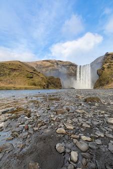 Cachoeira skogafoss islândia