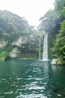 Cachoeiras de cheonjiyeon na ilha de jeju