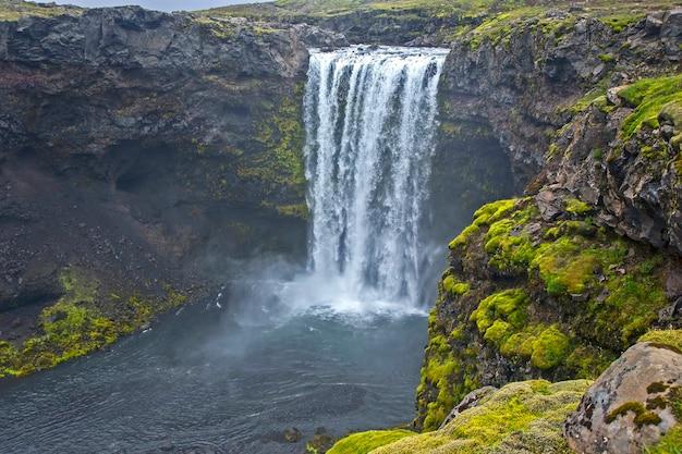 Cachoeiras do rio skoda. islândia. maravilhosa paisagem natural