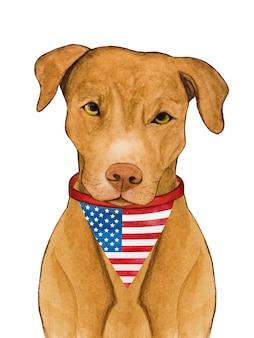 Cachorrinho adorável e lindo. bela pintura em aquarela.