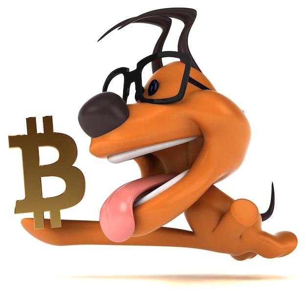Cachorro divertido - ilustração 3d