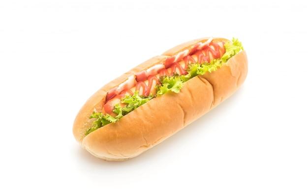 Cachorro-quente de salsicha com ketchup