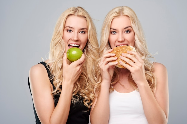 Cada menina tem uma dieta diferente