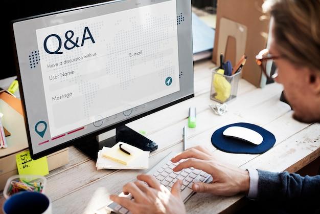 Cadastre-se o conceito de página da web on-line