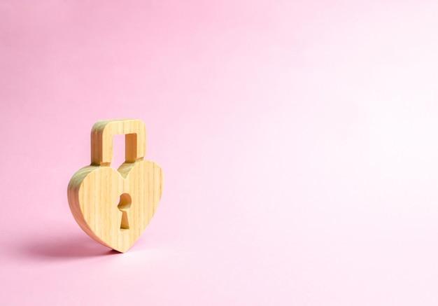 Cadeado em forma de coração