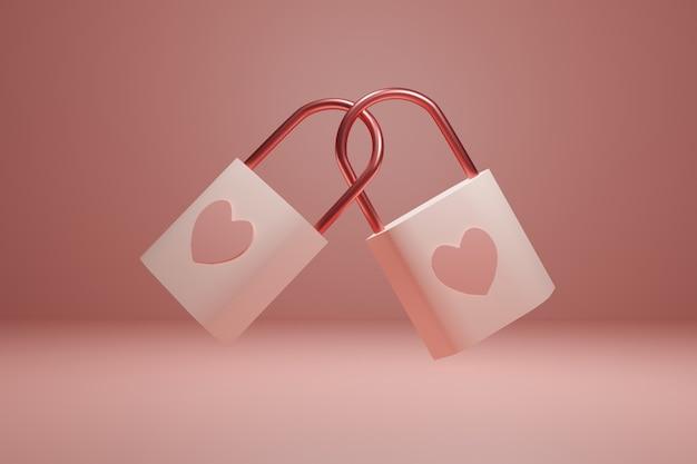 Cadeados com corações