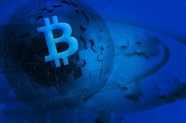 Cadeia de bloqueio de bitcoin criptocorrente foto