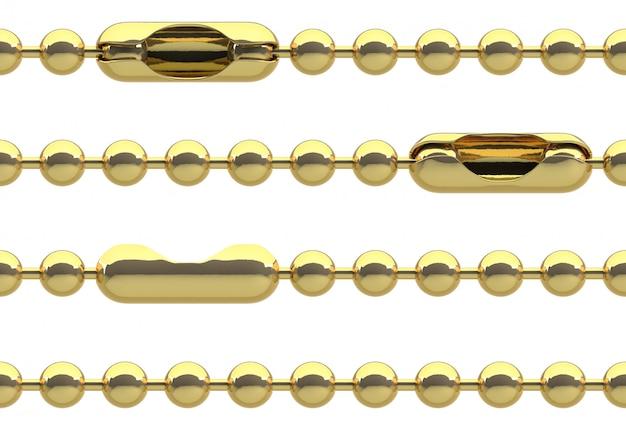 Cadeia de ouro sem costura