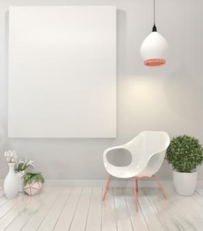 Cadeira de cartaz e quadro.