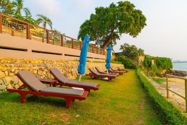 Cadeira de praia com fundo de praia