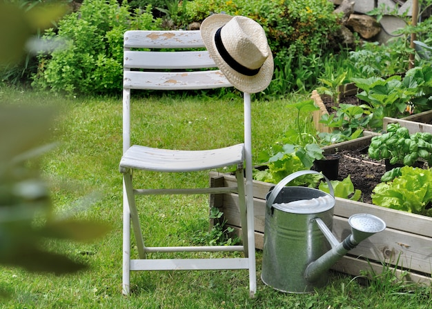 Cadeira de relaxamento no jardim