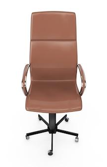 Cadeira de saliência de vista traseira isolada no branco. ilustração 3d