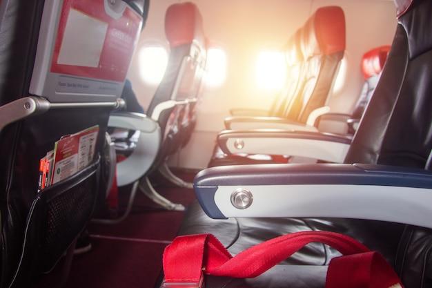 Cadeira, em, avião