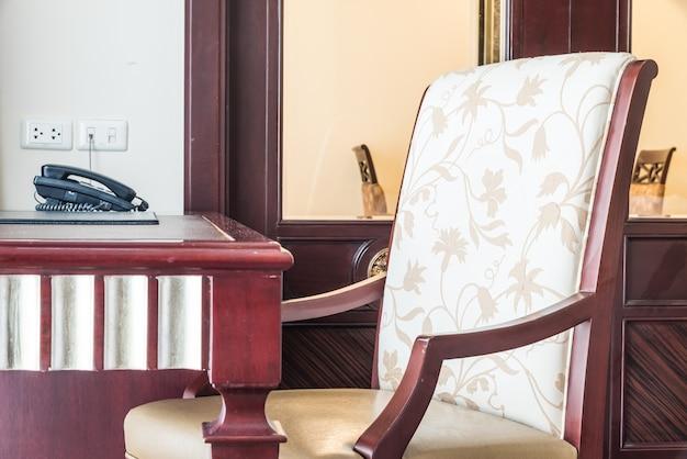Cadeira espaço de negócios conferência dentro de casa