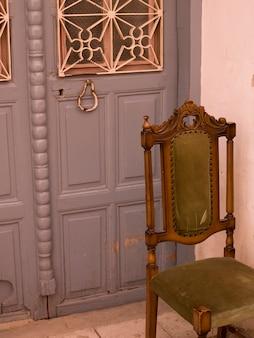Cadeira, exterior, entrada, em, kusadasi, peru