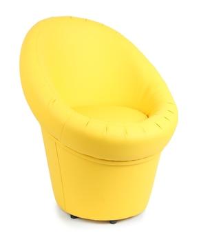 Cadeira moderna isolada no branco