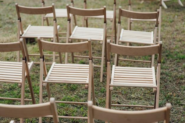 Cadeira para casamento ou outro evento atendido.