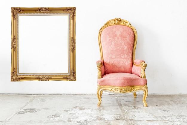 Cadeira vintage rosa