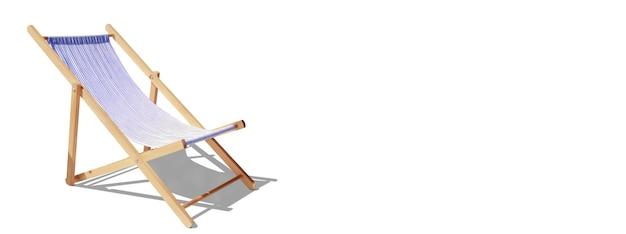 Cadeiras de praia de madeira na praia de areia perto do mar. fundo de férias.