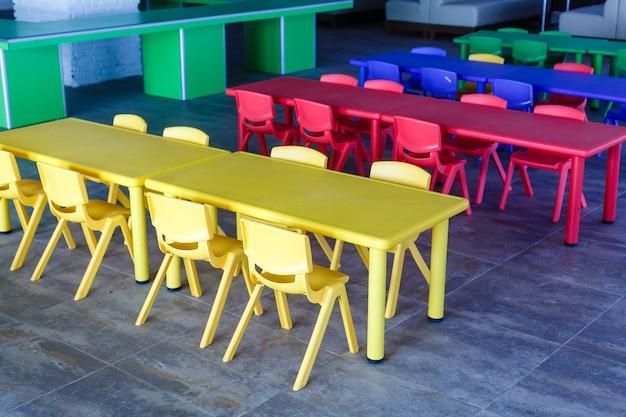 Cadeiras e mesas para crianças