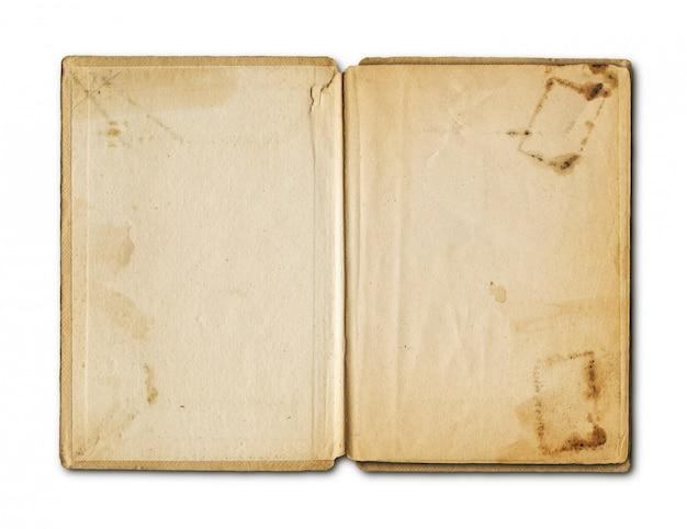 Caderno aberto de grunge velho