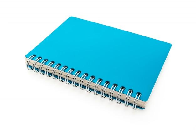 Caderno azul com anéis