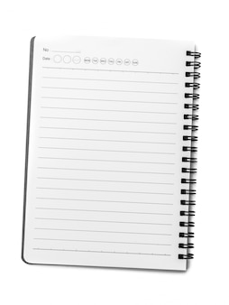 Caderno branco close-up